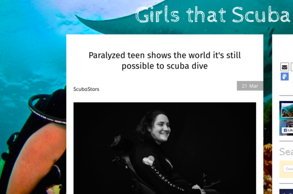 Paralyzed Barefoot Water Skier Goes Scuba Diving (Girls that Scuba)